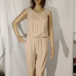 Zara Peach Sleeveless Evening Jumpsuit
